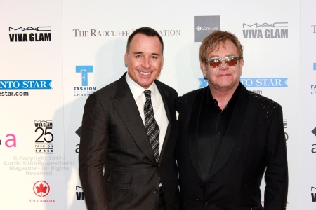David Furnish and Sir Elton John at Fashion Cares 25 in Toronto. Photo copyright: Curtis Sindrey (2012) - All Rights Reserved