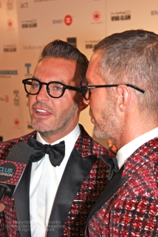 Dean and Dan Caten at Fashion Cares 25 in Toronto. Photo copyright: Curtis Sindrey (2012) - All Rights Reserved
