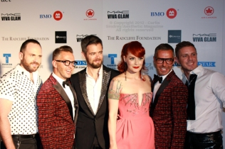 Scissor Sisters and designers Dean and Dan Caten at Fashion Cares 25 in Toronto. Photo copyright: Curtis Sindrey (2012) - All Rights Reserved