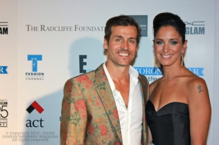 Our Lady Peace frontman Raine Maida and Chantal Kreviazuk at Fashion Cares 25 in Toronto. Photo copyright: Curtis Sindrey (2012) - All Rights Reserved