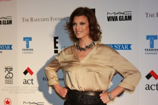 Canadian super model Linda Evangelista at Fashion Cares 25 in Toronto. Photo copyright: Curtis Sindrey (2012) - All Rights Reserved