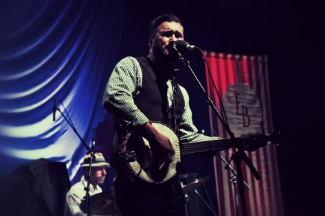 Mark Sasso of Elliott Brood at Danforth Music Hall in Toronto. October 21st, 2012. (Photo: Adam Harrison)