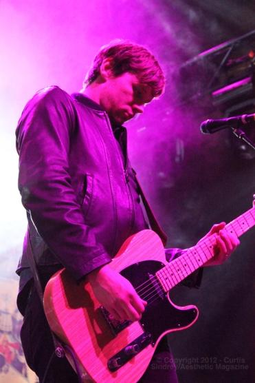 Dave Nugent of Sam Roberts Band at Metro Toronto Convention Centre. November 23, 2012. (Photo: Curtis Sindrey)
