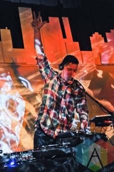 DJ performing with Cadence Weapon. (Photo: Stephen McGill/Aesthetic Magazine Toronto)