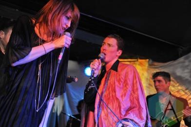 Sylvie Smith (left) and Geordie Gordon (right) of The Magic in Toronto. (Photo: Stephen McGill/Aesthetic Magazine Toronto)