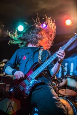 Bassist of Blackguard. (Photo: Scott Penner/Aesthetic Magazine Toronto)