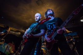 David Andersson (left) and Sylvain Coudret (right) of Soilwork. (Photo: Scott Penner/Aesthetic Magazine Toronto)