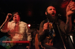 David Ritter (left) and Simon Ward (right) of The Strumbellas. (Photo: Curtis Sindrey/Aesthetic Magazine Toronto)