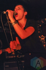 Jehnny Beth of Savages. (Photo: Stephen McGill/Aesthetic Magazine Toronto)