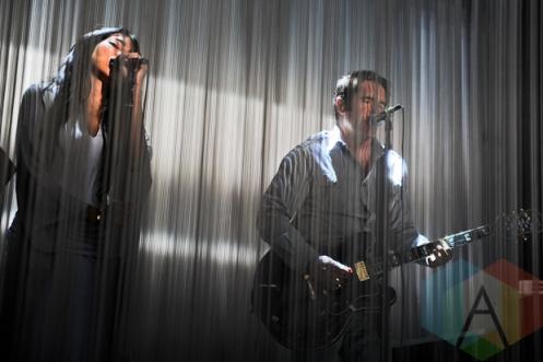 Mariqueen Maandig (left) and Trent Reznor (right) of How To Destroy Angels. (Photo: Stephen McGill/Aesthetic Magazine Toronto)