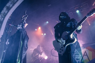 Papa Emeritus II (left) and Nameless Ghoul (right) of Ghost B.C. (Photo: Neal Van/Aesthetic Magazine Toronto)