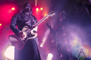 Nameless Ghoul (left) and Papa Emeritus II (right) of Ghost B.C. (Photo: Neal Van/Aesthetic Magazine Toronto)