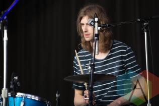 A member of Hayden's band. (Photo: Bruce Emberley/Aesthetic Magazine Toronto)