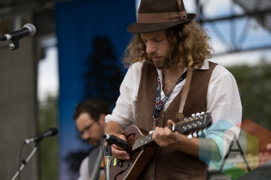 A member of Ruth Moody's band. (Photo: Bruce Emberley/Aesthetic Magazine Toronto)