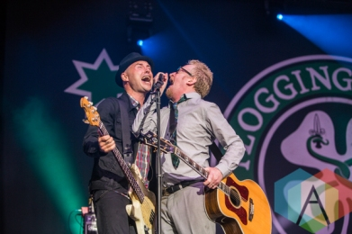 Nathen Maxwell (left) and Dave King (right) of Flogging Molly. (Photo: Scott Penner/Aesthetic Magazine Toronto)