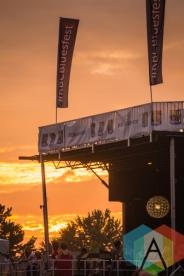 Sunset during Dawes' performance. (Photo: Scott Penner/Aesthetic Magazine Toronto)