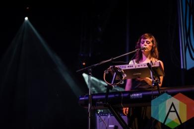 A member of Sharon Van Etten's band. (Photo: Scott Penner/Aesthetic Magazine Toronto)