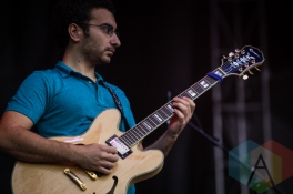 A member of Watsky's band. (Photo: Scott Penner/Aesthetic Magazine Toronto)