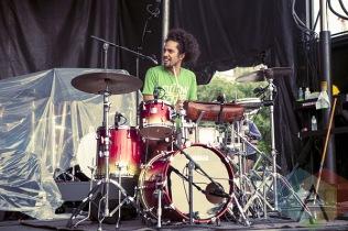 A member of Xavier Rudd's band. (Photo: Neil Van/Aesthetic Magazine Toronto)