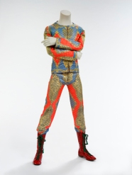 Quilted two-piece suit, 1972. Designed by Freddie Burretti for the 'Ziggy Stardust' tour. (Courtesy of The David Bowie Archive. Image © Victoria and Albert Museum)
