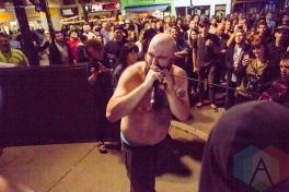 Damian Abraham of Fucked Up. (Photo: Lauren Garbutt/Aesthetic Magazine Toronto)