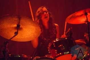 Fern Ford performing with Kate Nash. (Photo: Lauren Garbutt/Aesthetic Magazine Toronto)