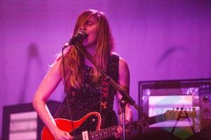Linda Buratto performing with Kate Nash. (Photo: Lauren Garbutt/Aesthetic Magazine Toronto)