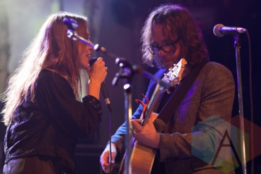 Feist (left) and Kevin Drew (right). (Photo: Bruce Emberley/Aesthetic Magazine Toronto)