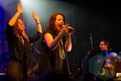 Feist (left) and Amy Millan (right). (Photo: Bruce Emberley/Aesthetic Magazine Toronto)