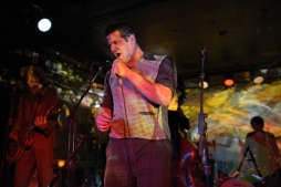 Bloodshot Bill performing with The Sadies. (Photo: Steve Danyleyko/Aesthetic Magazine Toronto)