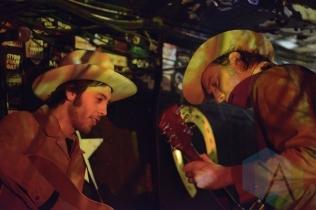 Daniel Romano (left) and Travis Good of The Sadies (right). (Photo: Steve Danyleyko/Aesthetic Magazine Toronto)