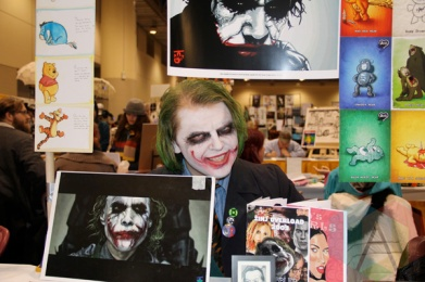 """That Joker Guy"" at Toronto ComiCon. (Photo: Adam Harrison/Aesthetic Magazine Toronto)"