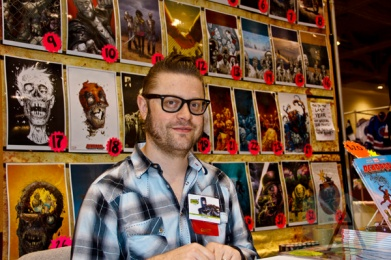 Tony Moore at Toronto ComiCon. (Photo: Adam Harrison/Aesthetic Magazine Toronto)