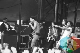 Chance The Rapper with Childish Gambino. (Photo: Ashley Gheerawo/Aesthetic Magazine Toronto)