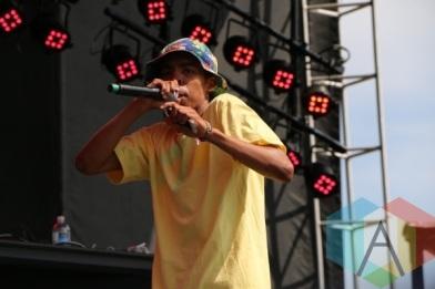 Earl Sweatshirt with Tyler, The Creator. (Photo: Ashley Gheerawo/Aesthetic Magazine Toronto)