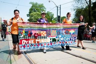 2014 Dyke March. (Photo: Krystle Merrow/Aesthetic Magazine Toronto)