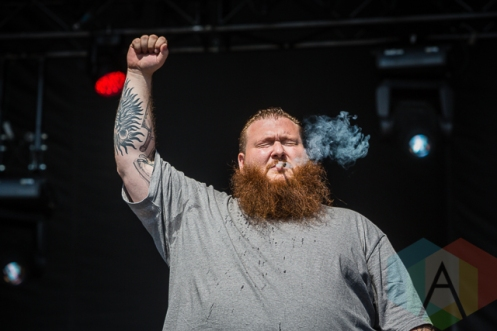 Action Bronson performing at Ottawa Bluesfest in Ottawa, ON in July 2014. (Photo: Scott Penner/Aesthetic Magazine)