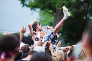 Crowd surfer during Arkells. (Photo: Lauren Garbutt/Aesthetic Magazine Toronto)