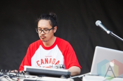 DJ T LO with Shad. (Photo: Lauren Garbutt/Aesthetic Magazine Toronto)