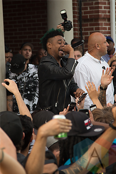 Danny Brown at Fool's Gold Day Off 2014. (Photo: Brandon Lorenzetti/Aesthetic Magazine Toronto)