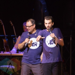 Matthew Good and Jay Baruchel. (Photo: Fernando Paiz/Aesthetic Magazine Toronto)