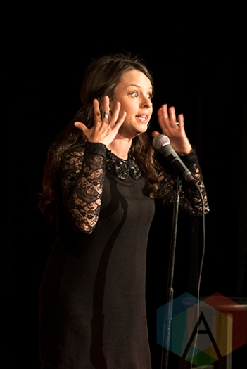 Emma Hunter at the New Faces of Comedy: Toronto Showcase. (Photo: Morgan Hotston/Aesthetic Magazine Toronto)