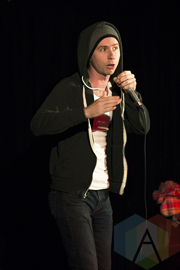 Dan Beirne at the New Faces of Comedy: Toronto Showcase. (Photo: Morgan Hotston/Aesthetic Magazine Toronto)
