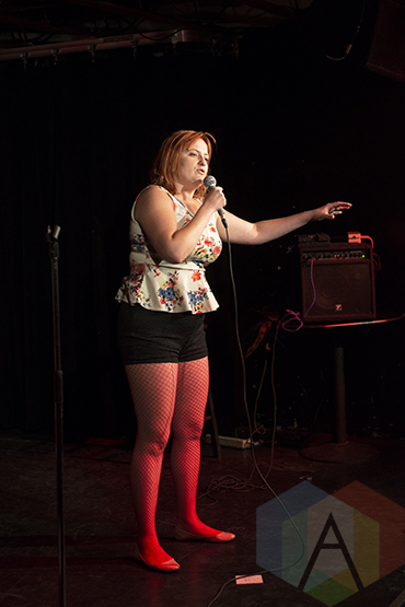 Inessa Frantowski at the New Faces of Comedy: Toronto Showcase. (Photo: Morgan Hotston/Aesthetic Magazine Toronto)