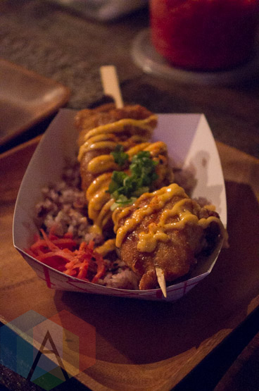 Gushi Japanese Street Food at Long Winter. (Photo: Janine Wong/Aesthetic Magazine Toronto)