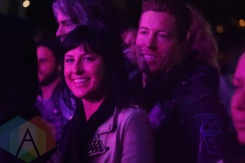 Phantogram's Sarah Barthel and Shaun White in the crowd during Steve Aoki. (Photo: Krystyn Bristol/Aesthetic Magazine Toronto)