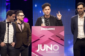 Group of the Year winner Arkells at the 2015 JUNO Gala Dinner and Awards at the Hamilton Convention Centre. (Photo: CARAS)