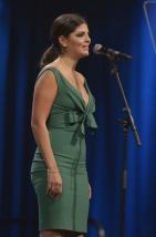 Nikki Yanofsky introduces Radio Starmaker Fund presentation at the 2015 JUNO Gala Dinner and Awards at the Hamilton Convention Centre. (Photo: CARAS)