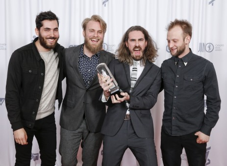 Roots and Traditional Album of the Year: Group winner The Bros. Landreth at the 2015 JUNO Gala Dinner and Awards at the Hamilton Convention Centre. (Photo: CARAS)