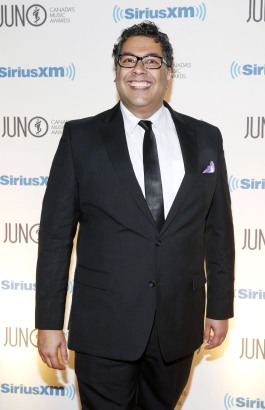 Naheed Nenshi, Mayor of Calgary arrives on the red carpet at the 2015 JUNO Gala Dinner and Awards at the Hamilton Convention Centre. (Photo: CARAS)
